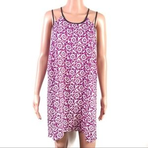 Forever 21 Old Rose Floral Tent Cami Dress Small